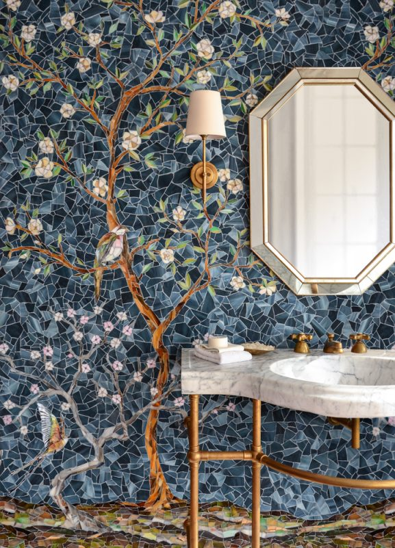 Chinoiserie Sea Glass™ Backsplash
